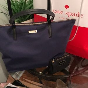 NWT Navy And Black Shoulder Bag with Wallet